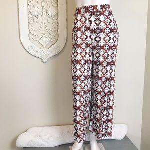 Love In | Wide Leg High Rise Tribal Print Pant L